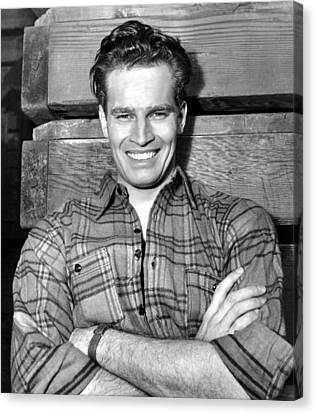 Charlton Heston, Paramount Pictures Canvas Print by Everett