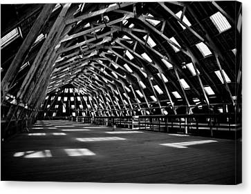 Chatham Dockyard Covered Slip No3 Canvas Print by Dawn OConnor