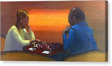 Checkmate Canvas Print by Peter Worsley