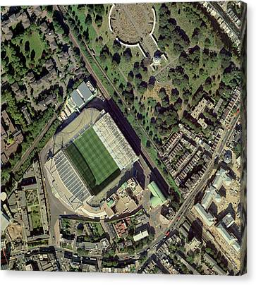 Chelsea's Stamford Bridge Stadium, Aerial Canvas Print by Getmapping Plc