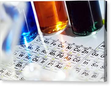 Chemistry Equipment Canvas Print by Steve Horrell