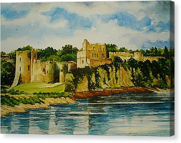 Chepstow Castle  Wales Canvas Print by Andrew Read