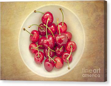 Cherries  Canvas Print by Violet Gray