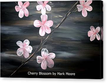 Cherry Blossom By Mark Moore Canvas Print by Mark Moore