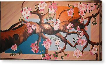 Cherry Blossoms Canvas Print by Sylvia Wanty