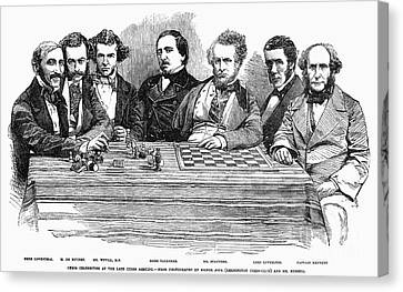 Chess Players, 1855 Canvas Print by Granger