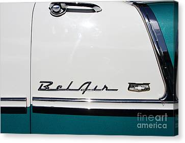 Chevrolet Bel-air . Blue . 7d12849 Canvas Print by Wingsdomain Art and Photography