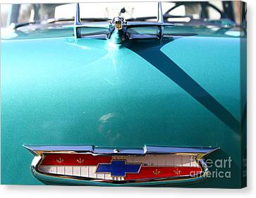Chevrolet Bel-air . Blue . 7d12851 Canvas Print by Wingsdomain Art and Photography
