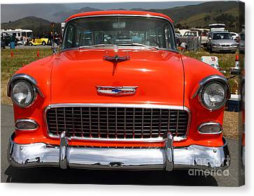 Chevrolet Bel-air Stationwagon . Orange . 7d15270 Canvas Print by Wingsdomain Art and Photography