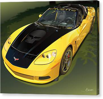 chevrolet corvette C6.R for the street  Canvas Print by Alain Jamar