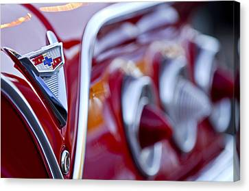 Chevrolet Impala Emblem Canvas Print by Jill Reger