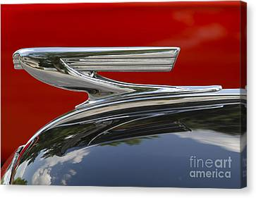 Chevy Hood Canvas Print by Dennis Hedberg