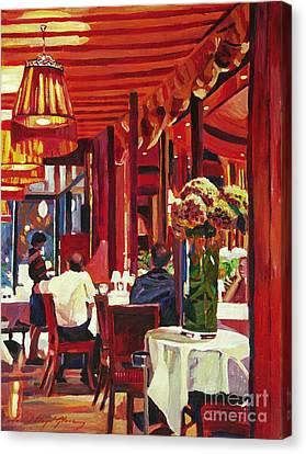 Chez Parisian Canvas Print by David Lloyd Glover