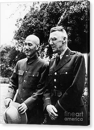 Chiang Kai-shek & Stilwell Canvas Print by Granger