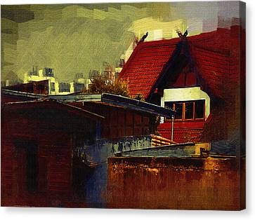 Chiang Mai House Canvas Print by Fran Woods