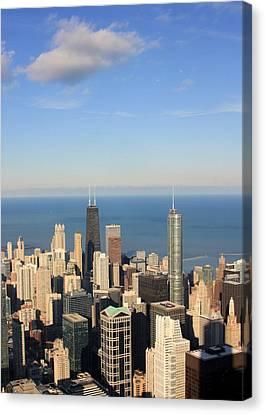 Chicago Aerial View Canvas Print by Luiz Felipe Castro