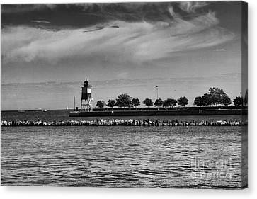Chicago Lighthouse Canvas Print by Leslie Leda