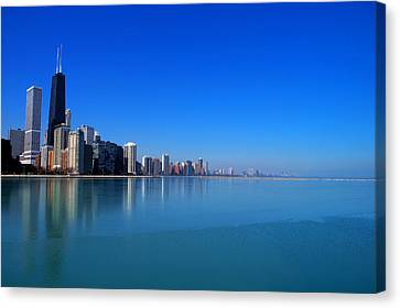 Chicago Skyline Canvas Print by Paul Ge