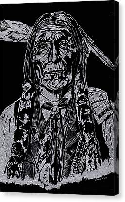 Chief Wolf Robe Canvas Print by Jim Ross