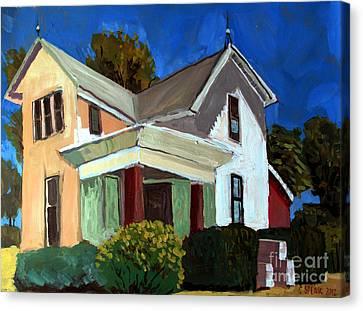 Childhood Home Plein Air Canvas Print by Charlie Spear