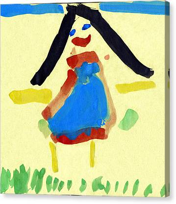 Child's Painting Canvas Print by Sheila Terry