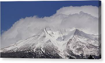 Chill Winds Across Shasta's Peak Canvas Print by Mick Anderson