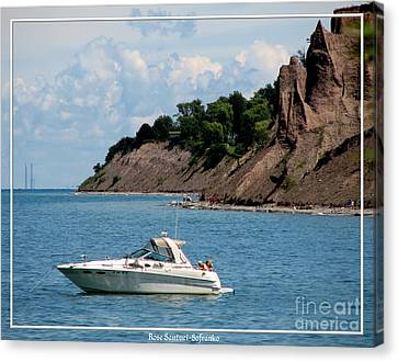Chimney Bluffs On Lake Ontario Canvas Print by Rose Santuci-Sofranko