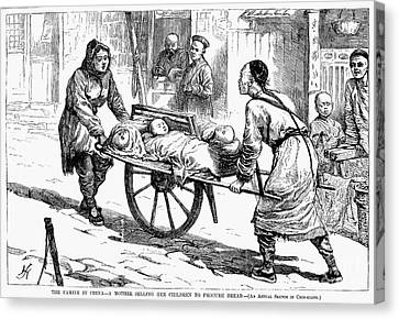 China: Famine, 1877 Canvas Print by Granger