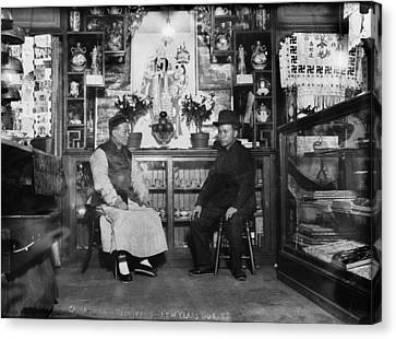 Chinatown, Receiving New Years Guests Canvas Print by Everett