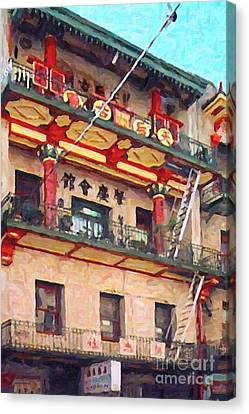 Chinatown Canvas Print by Wingsdomain Art and Photography