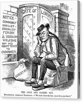 Chinese Exclusion Act, 1882 Canvas Print by Granger