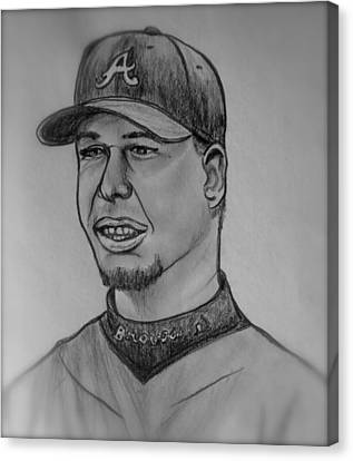 Chipper Jones Canvas Print by Pete Maier