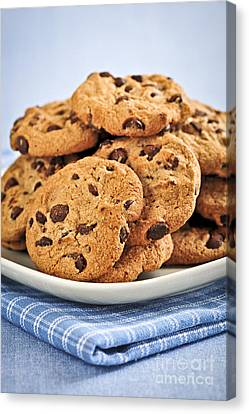 Chocolate Chip Cookies Canvas Print by Elena Elisseeva