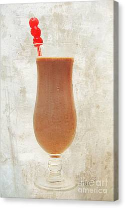 Chocolate Milk With Cherries On Top Canvas Print by Andee Design