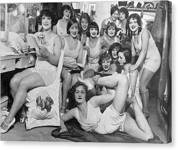 Chorus Girls Canvas Print by Topical Press Agency