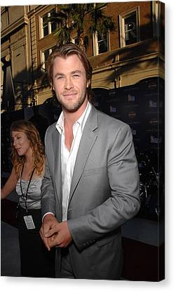 Chris Hemsworth At Arrivals For Captain Canvas Print by Everett