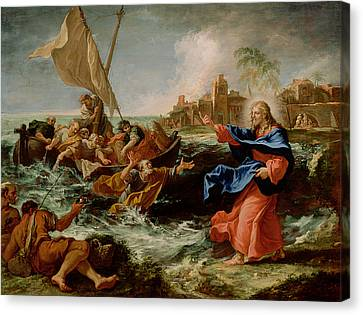 Christ At The Sea Of Galilee Canvas Print by Sebastiano Ricci