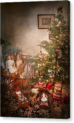 Christmas - My First Christmas  Canvas Print by Mike Savad