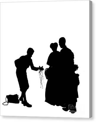 Christmas Gift - A Silhouette 1a Canvas Print by Reggie Duffie