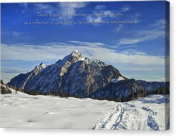 Christmas In Austria Europe Canvas Print by Sabine Jacobs