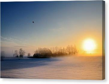 Christmas Sunset Canvas Print by Pierre Hanquin Photographie