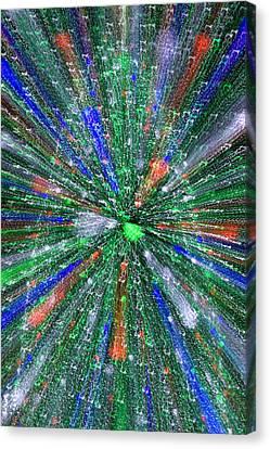 Christmas Tree Abstract-i Canvas Print by Dennis Tarnay Jr