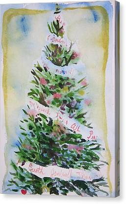 Christmas Tree Canvas Print by Tilly Strauss