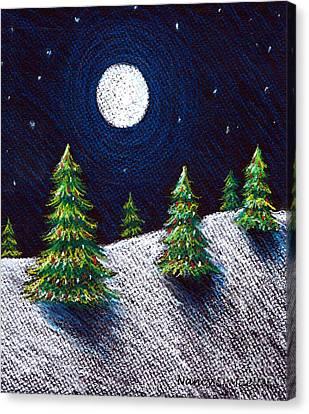 Christmas Trees II Canvas Print by Nancy Mueller