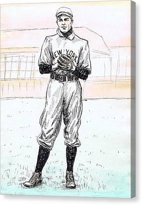 Christy Mathewson Canvas Print by Mel Thompson
