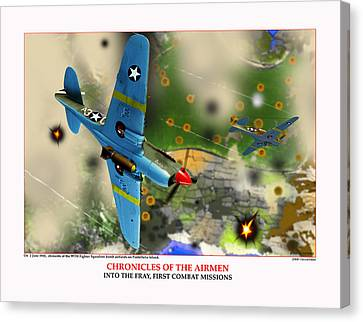 Chronicles Of The Airmen Into The Fray Canvas Print by Jerry Taliaferro
