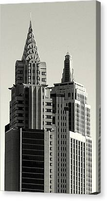 Chrysler And Empire Canvas Print by Linda Edgecomb