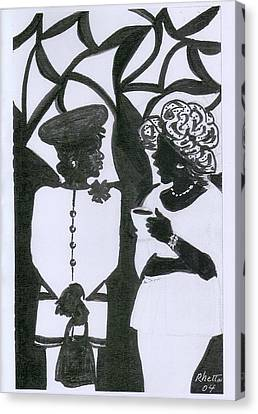 Church Ladies Canvas Print by Rhetta Hughes