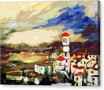 Church Of Santa Maria Assisi Italy Canvas Print by Ginette Callaway