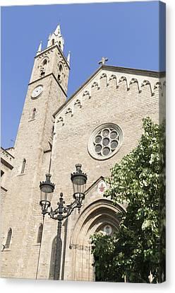Church Parroquia De La Purissima Concepcio Barcelona Spain Canvas Print by Matthias Hauser